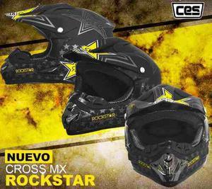 Casco Moto Cross Cert Dot Rock Star Mate Oferta Pegaso