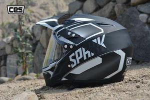 Casco Moto Cross Con Visor Ces Spark Negro Certif. Dot