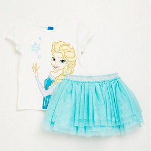 Conjunto Frozen Disney Original Talla 8 Polo Y Tutu