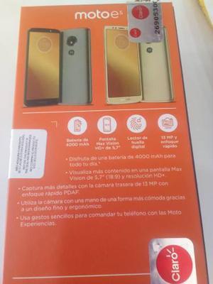 Motorola E5 Nuevo En Caja Original De Claro