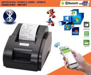 Impresora Térmica 58mm Usb y Bluetooth Punto De Venta /