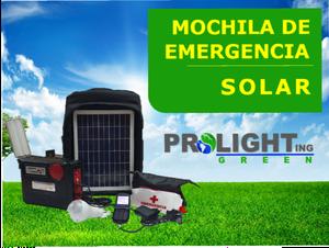 MOCHILA SOLAR RECARGABLE PROLIGHTGREEN