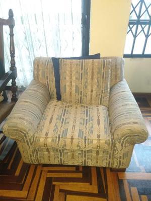 Muebles de sala confortables de 3 piezas con base madera