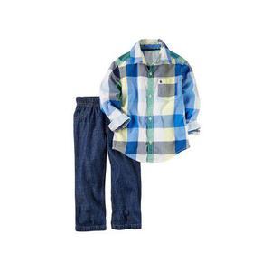 Oferta Set Carter's Eeuu Camisa Pantalón Bebé Niño 12