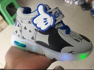 Zapatillas Luces Mickey Nuevos Niños Importados Envio A