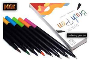 Brush Pen - Fine Pen Mgk (doble Punta) X 24 Un