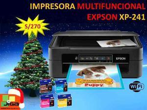 Impresora Multifuncional Epson Xp241 Con Cartuchos