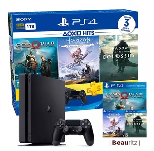 Ps4 Play Station 4 Slim Bundle Hits 4 1tb Plus 3 Meses