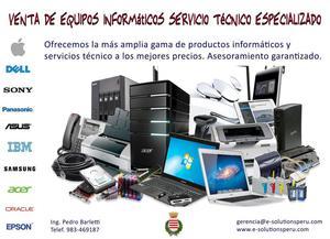 Venta de Equipos Informáticos y Servicio Técnico