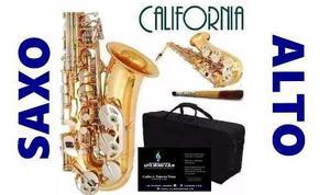 Saxo Alto Dorado, California!!! Un Saxo De Potente Sonido, F