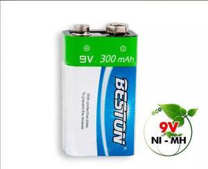Bateria Recargable De 9v 300 Mah 1200ciclos