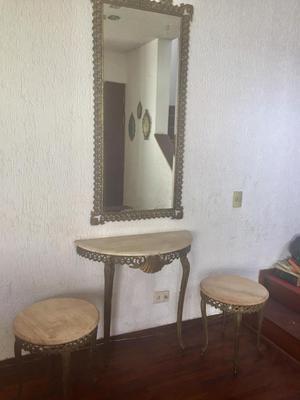 Remato Lindo y elegante juego de espejo, consola y mesas de
