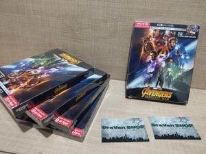 Avengers Infinity War Gallery Book 4k Blu Ray Pelicula Stock