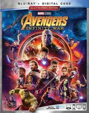Blu Ray Avengers: Infinity War - Stock - Nuevo - Sellado