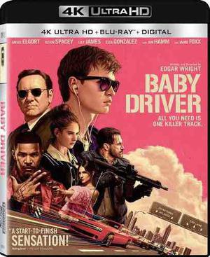 Blu Ray Baby Driver: El Aprendiz Del Crimen 2d - 4k - Stock