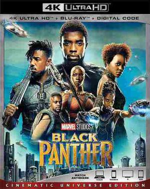 Blu Ray Black Panther 2d - 4k - Stock - Nuevo - Sellado
