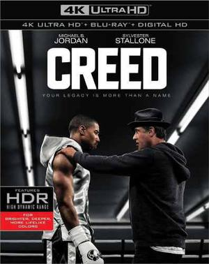 Blu Ray Creed 2d - 4k - Stock - Nuevo - Sellado