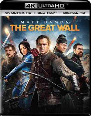 Blu Ray La Gran Muralla 2d - 4k - Stock - Nuevo - Sellado