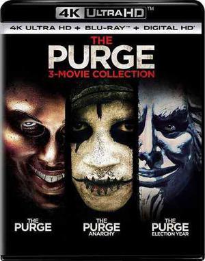 Blu Ray The Purge Colección Trilogía 2d - 4k - Stock -