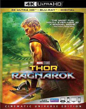Blu Ray Thor: Ragnarok 2d - 4k - Stock - Nuevo - Sellado