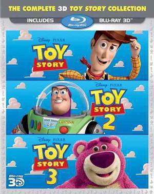 Blu Ray Toy Story Trilogía 3d - Stock - Nuevo - Sellado