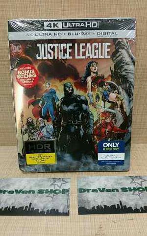 Justice League La Liga De La Justicia Steelbook 4k Blu Ray