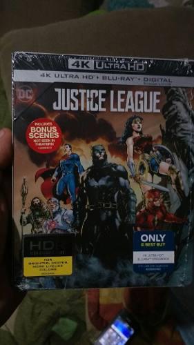 La Liga De La Justicia Blu Ray 4k Steelbook (en Stock)