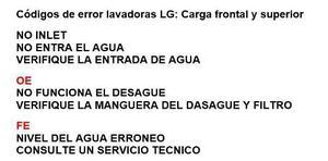 Manual De Codigo De Errores Fallas De Lavadoras Y Secadoras