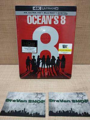 Ocean's 8 Steelbook 4k Blu Ray Pelicula Stock