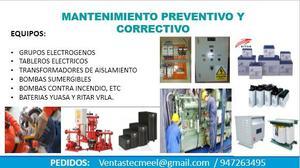 SERVICIO DE MANTENIMIENTO EN EQUIPOS DE ENERGIA, BATERIAS