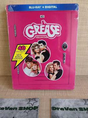 The Grease Collection Blu Ray Película Steelbook