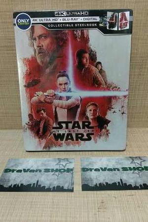The Last Jedi Star Wars Steelbook 4k Blu Ray Película Stock
