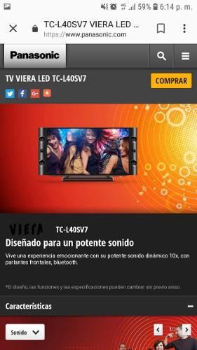 Tv Panasonic Viera Led Tc-l40sv7
