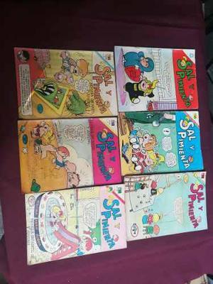 Sal Y Pimienta,15 Revistas Comic,de Editorial Novaro, 80s.