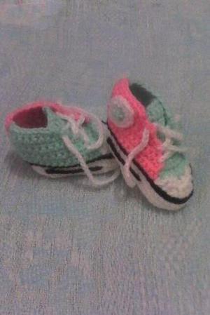 Zapatillas Tejidas Para Bebes