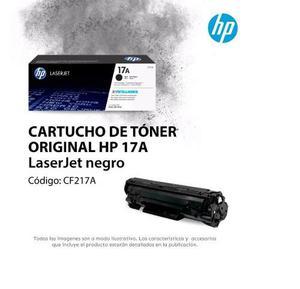 Cartucho De Tóner Original Hp 17a Laserjet Negro(cf217a)