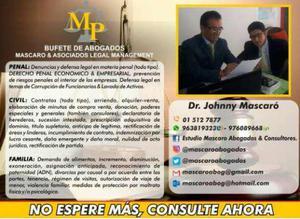 Se brinda asesoria juridica las 24 horas en Lima