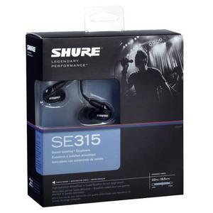 Shure Se315 Auriculares De Aislamiento De Sonido, Negro