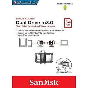 Usb Dual Microusb Sandisk Flash 64gb 150mb/s Otg3.0 Pc Movil