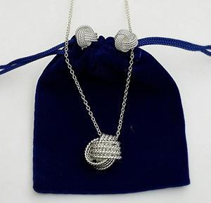 Set De Aretes Y Collar Caracol Plata 925 Para Fecha Especial