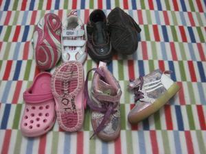 Zapatillas y croc talla 25 DESDE 5 soles