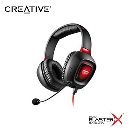 Audifono C/microf. Creative Gaming Tactic 3d Rage Sbx Black