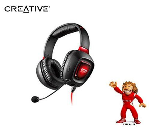Audifono C/microf. Creative Gaming Tactic 3d Rage Sbx Usb Bl