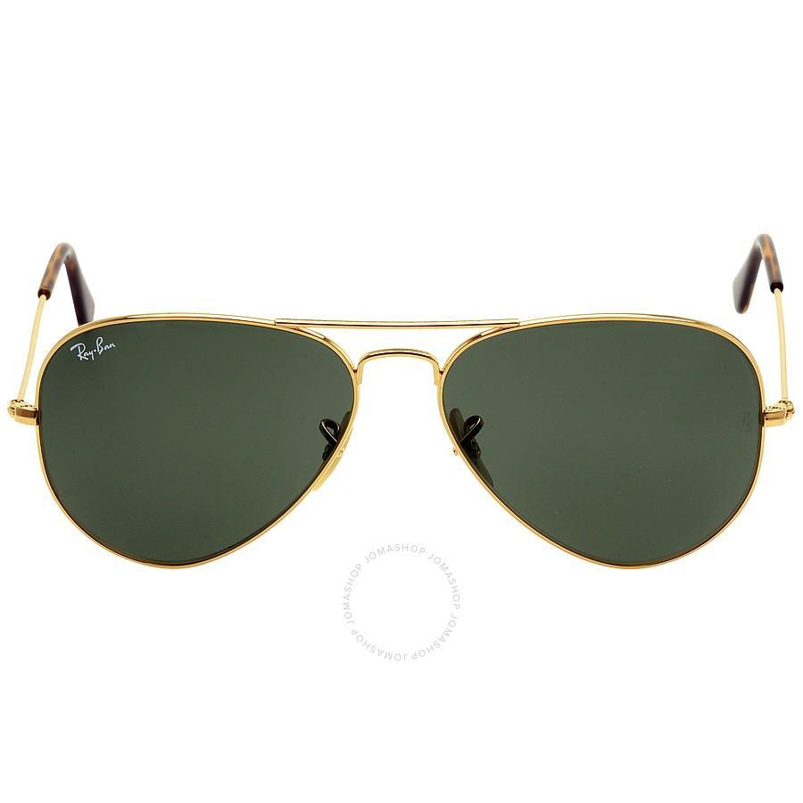 Lentes originales ray ban verdes de aviador con marco dorado 5f01ccff4e