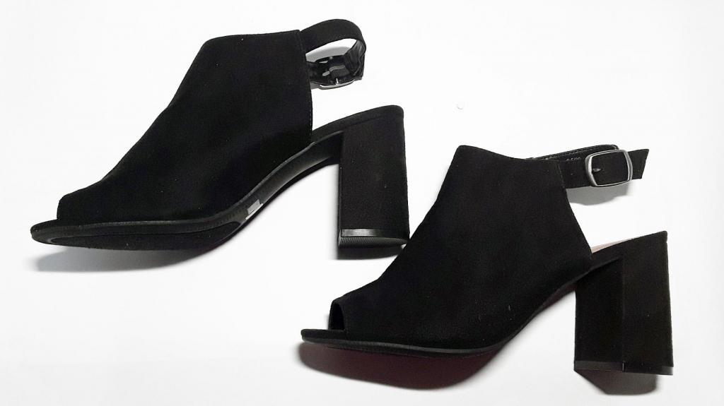 OFERTA EN Zapatos tacón ancho punta abierta, Mujer talla 39