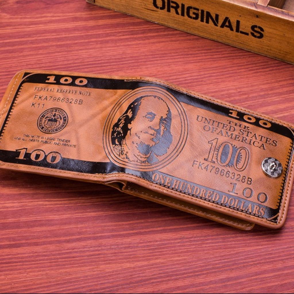 Se vende Billetera De Cuero Pu Para hombre Diseño 100 Dolar