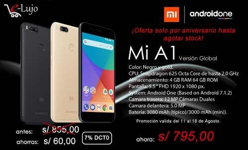 Xiaomi Mi A1 4 Gb Ram 64 Gb Rom