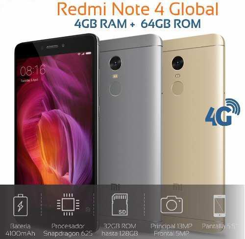 Xiaomi Redmi Note 4 Versión Global 4gb Ram +64gb Rom