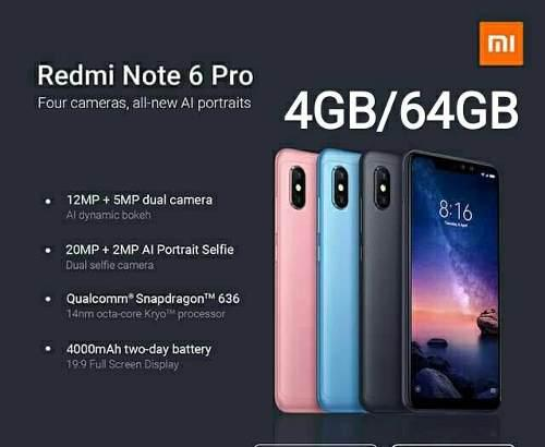 Xiaomi Redmi Note 6 Pro 4gb/64gb Cajas Selladas