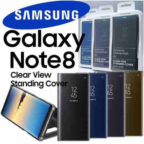 Flip Case Clear View Cover Para Galaxy Note 8 100% Original